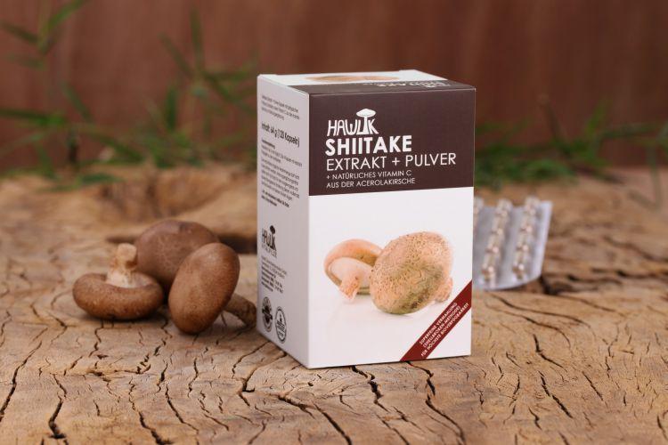 Shiitake Extrakt + Pulver 120 Stk.